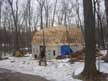 Finally all of the trusses were up! On to the sheathing.