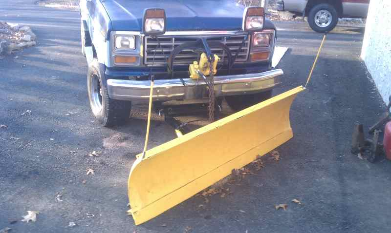 new to site old meyer plow plowsite painted the plow and welded patches to fill the holes looks ok now